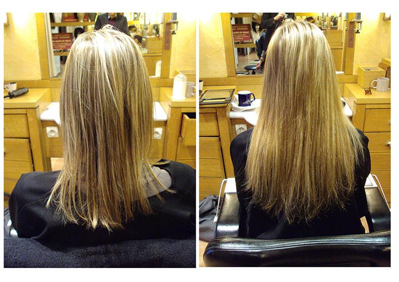 Extensions cheveux Fins - Avant/Après SandrineDelobel.com